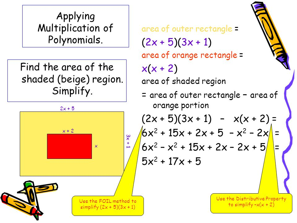 Applying Multiplication of Polynomials.