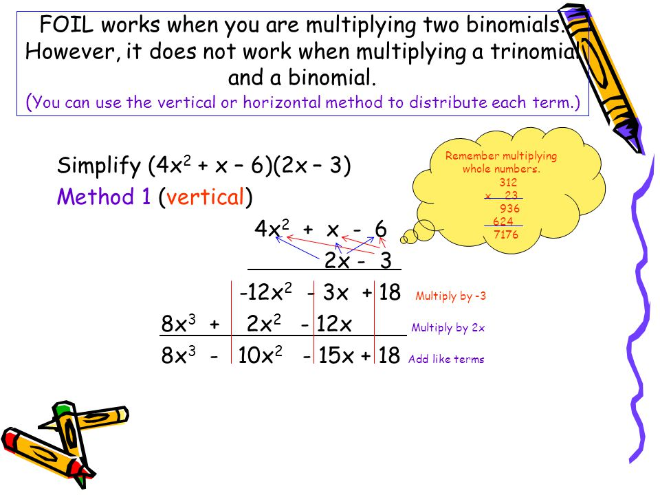 Remember multiplying whole numbers.