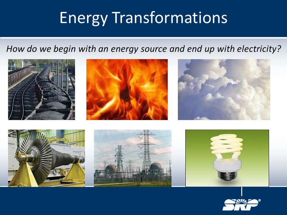 How do we begin with an energy source and end up with electricity