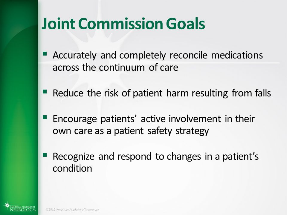 Joint Commission Goals