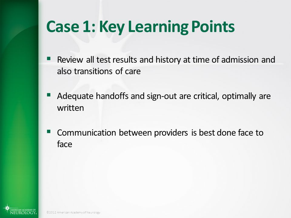 Case 1: Key Learning Points