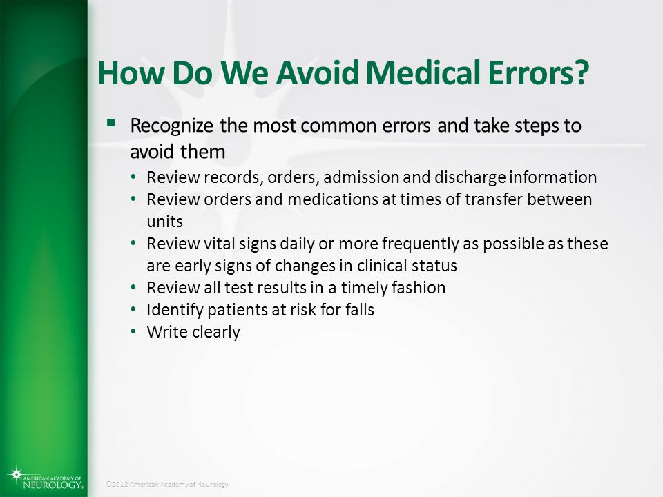 How Do We Avoid Medical Errors