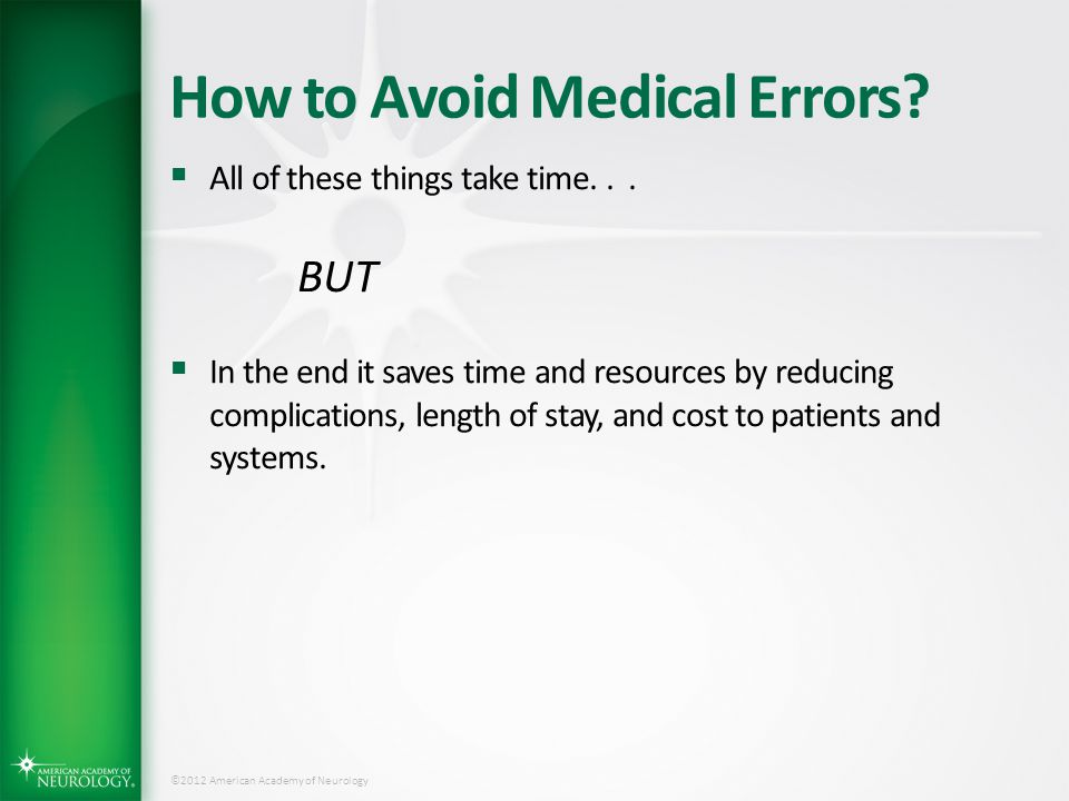 How to Avoid Medical Errors