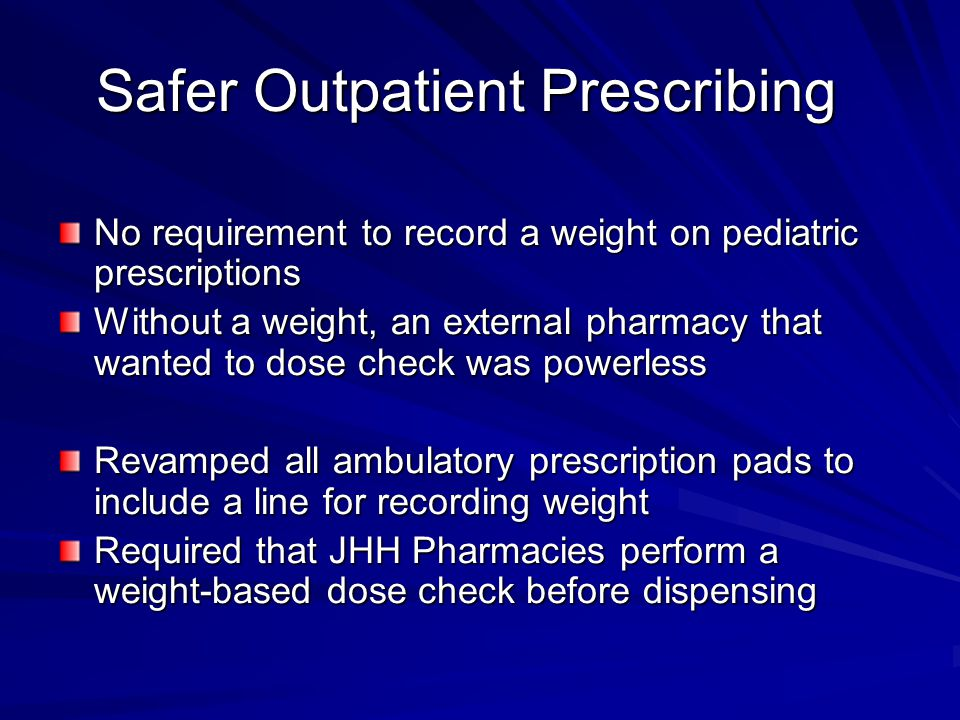 Safer Outpatient Prescribing