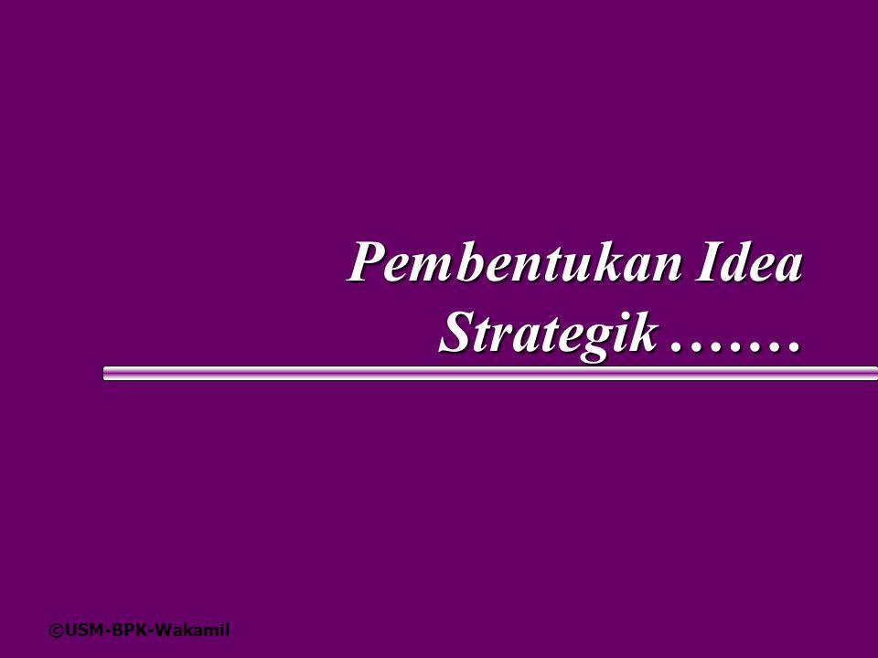 Pembentukan Idea Strategik .……