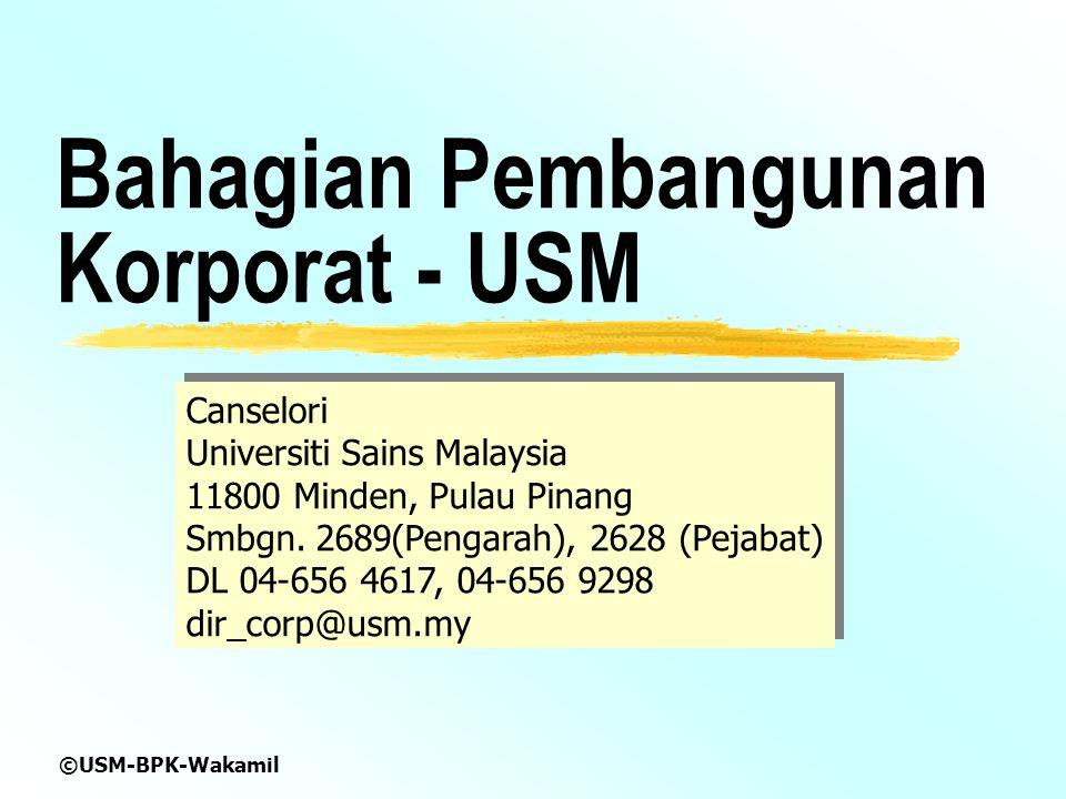Bahagian Pembangunan Korporat - USM