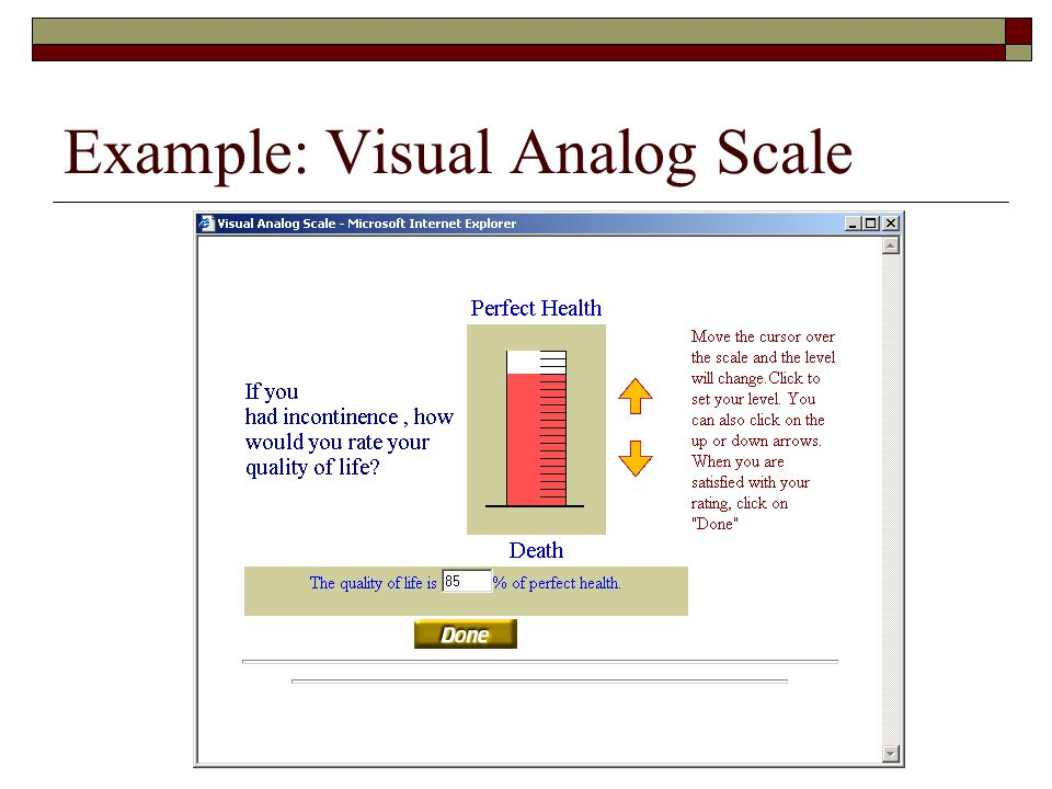 Example: Visual Analog Scale