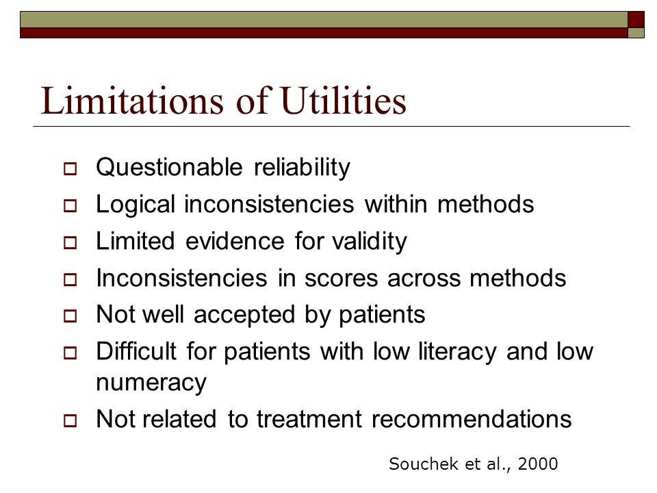 Limitations of Utilities
