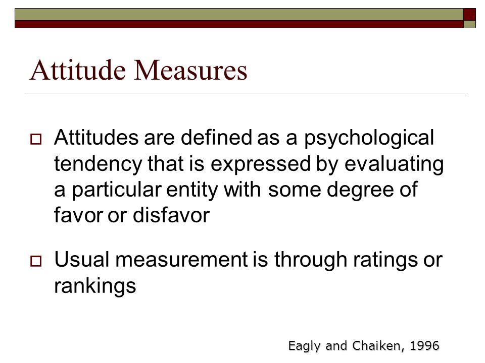 Attitude Measures