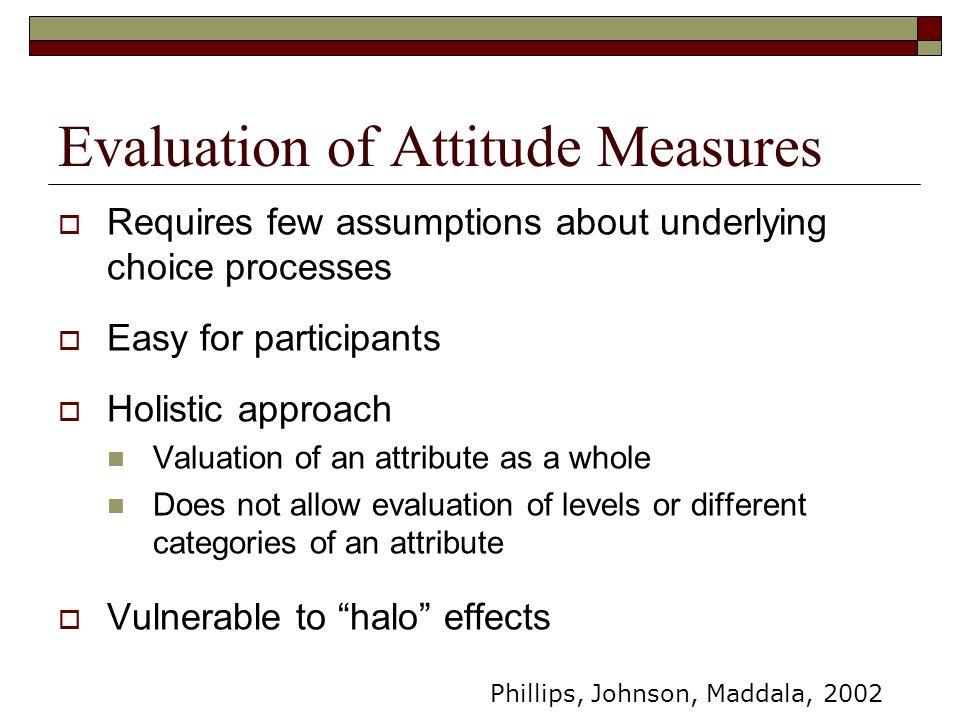 Evaluation of Attitude Measures