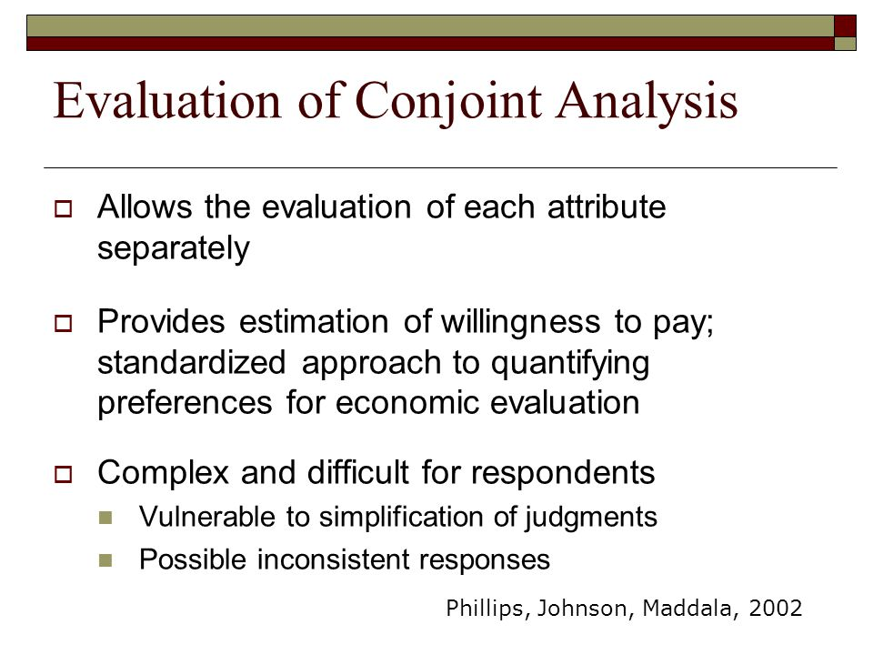 Evaluation of Conjoint Analysis