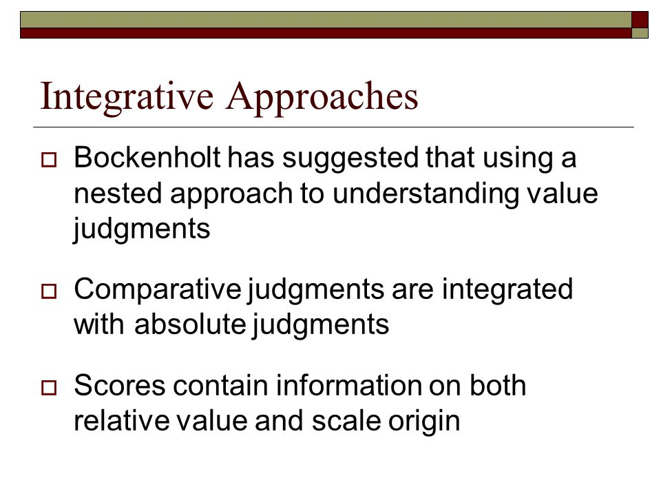 Integrative Approaches