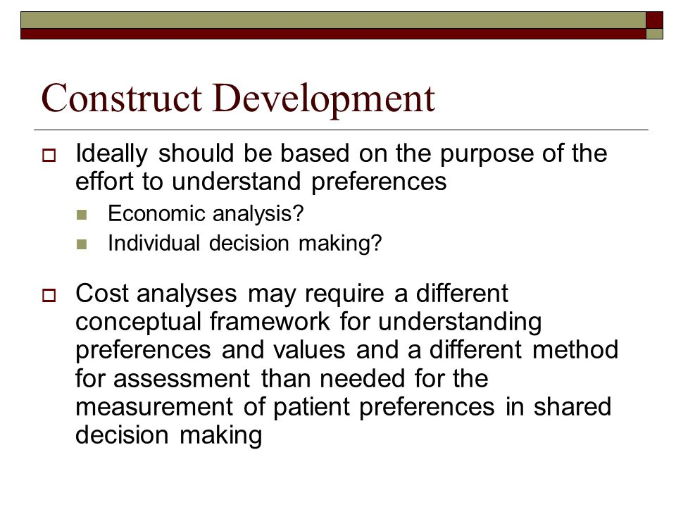 Construct Development