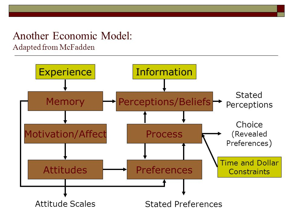 Another Economic Model: Adapted from McFadden