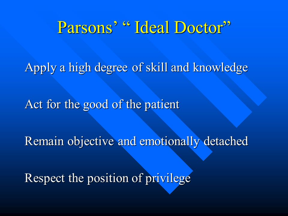 Parsons' Ideal Doctor
