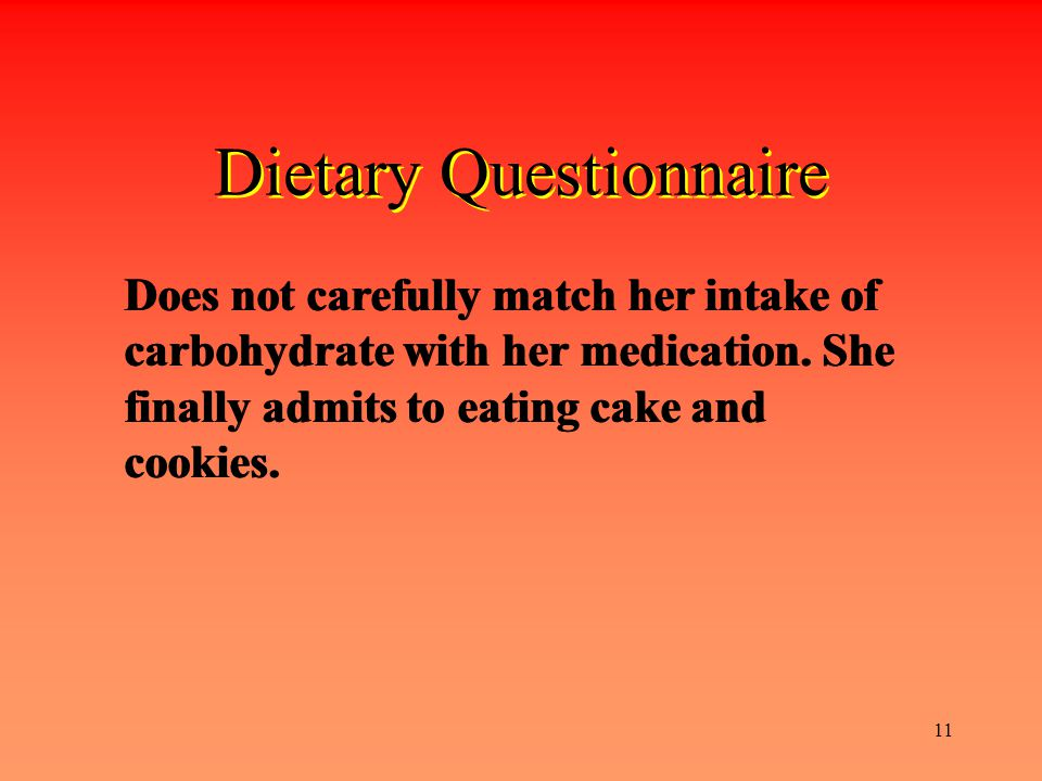 Dietary Questionnaire