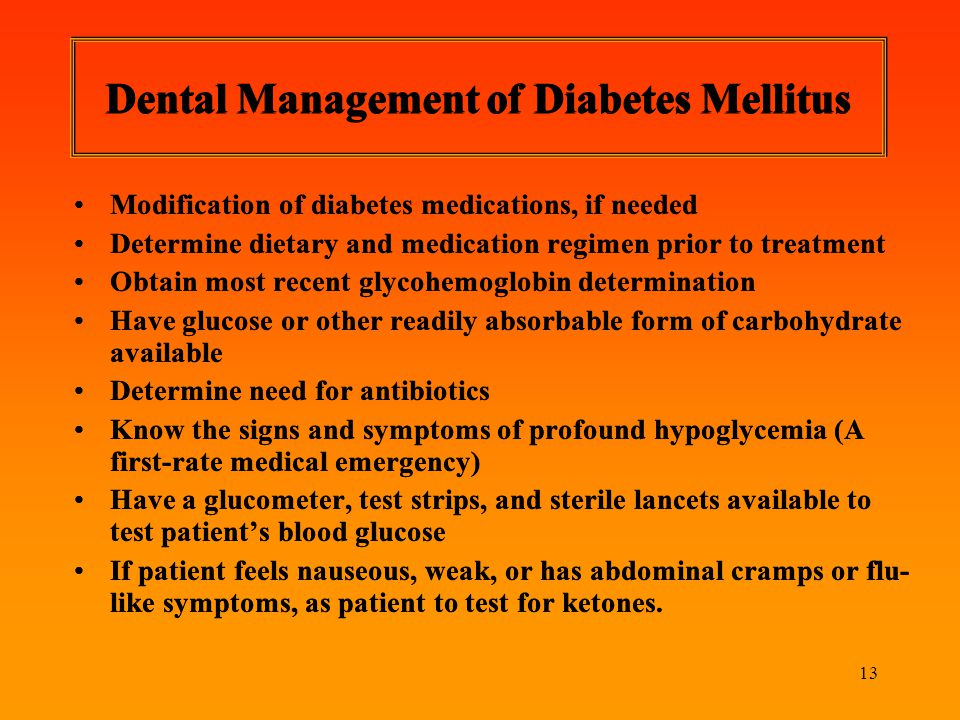 Dental Management of Diabetes Mellitus