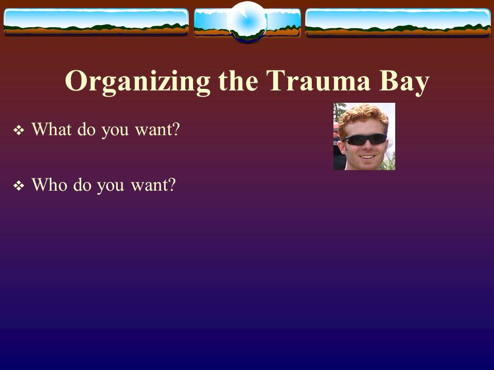 Organizing the Trauma Bay