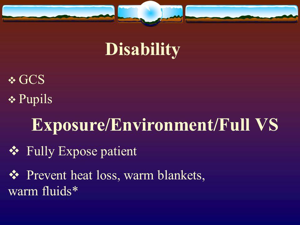 Exposure/Environment/Full VS