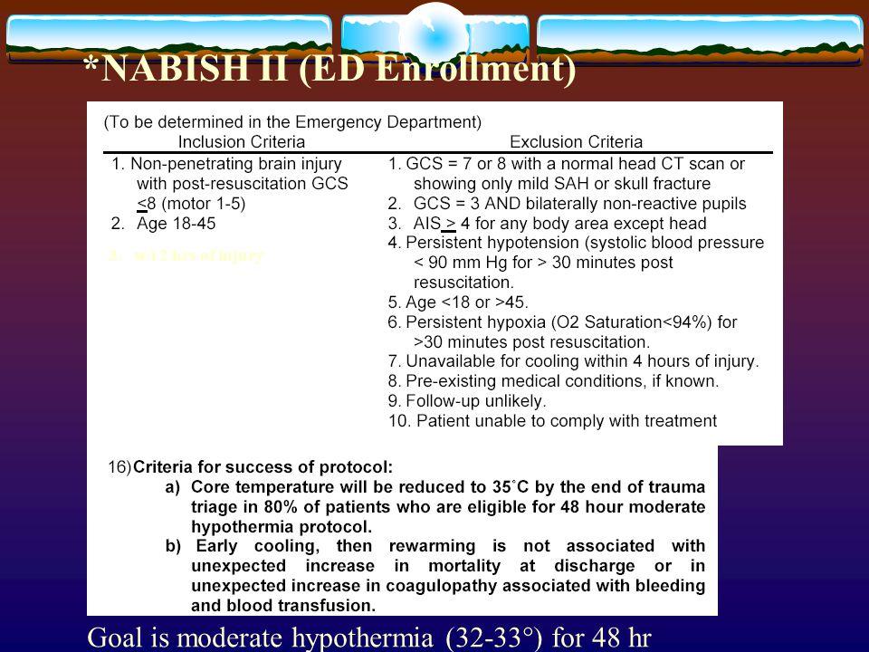 *NABISH II (ED Enrollment)