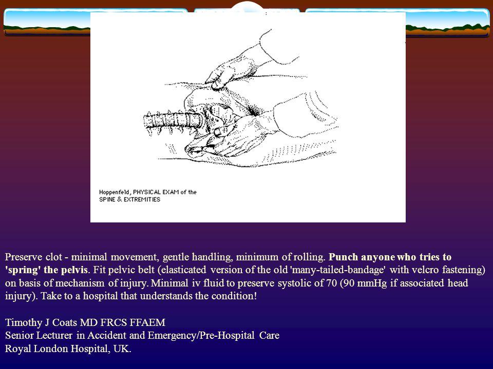 Preserve clot - minimal movement, gentle handling, minimum of rolling