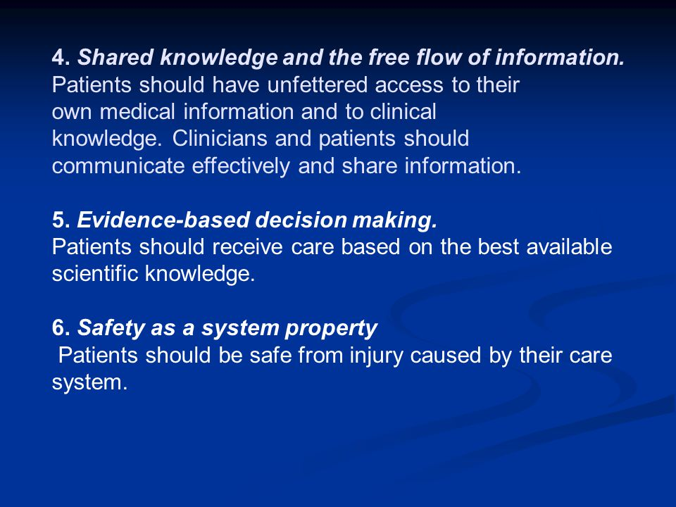 4. Shared knowledge and the free flow of information