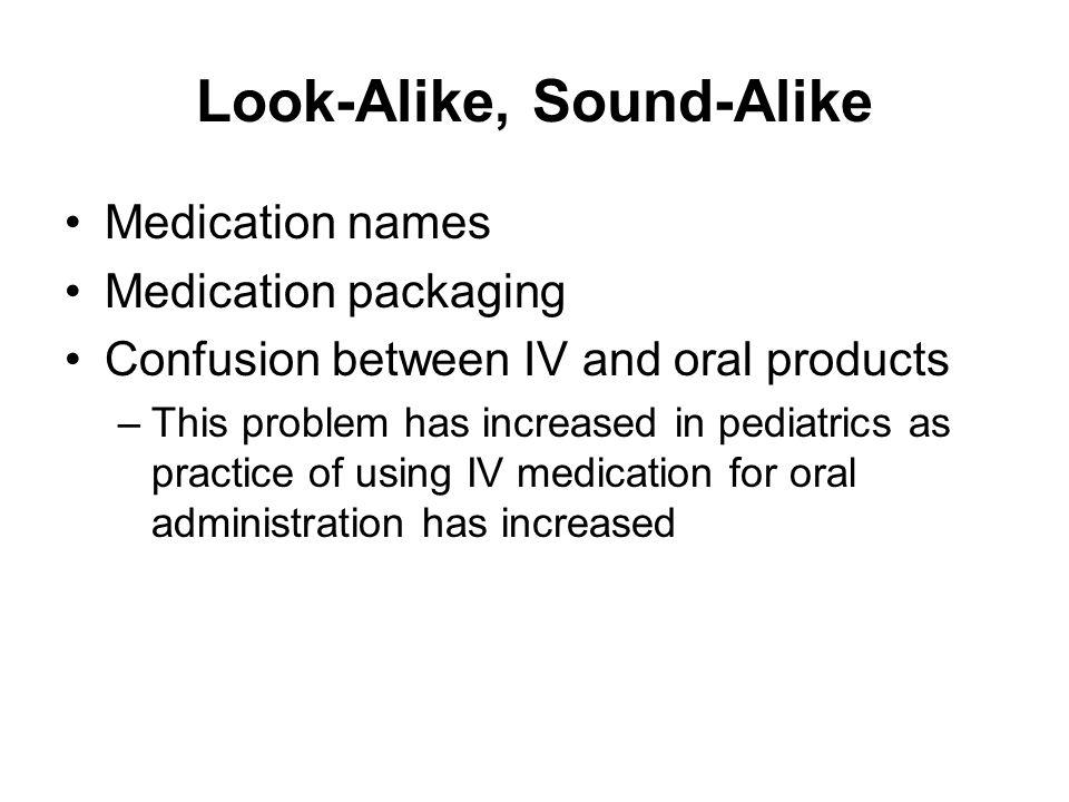 Look-Alike, Sound-Alike