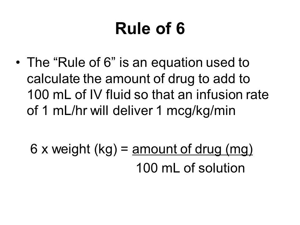 Rule of 6