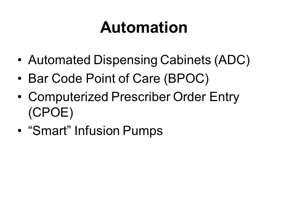 Automation Automated Dispensing Cabinets (ADC)