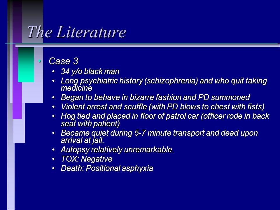 The Literature Case 3 34 y/o black man