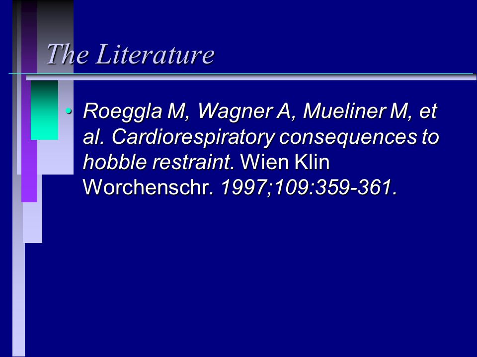 The Literature Roeggla M, Wagner A, Mueliner M, et al.