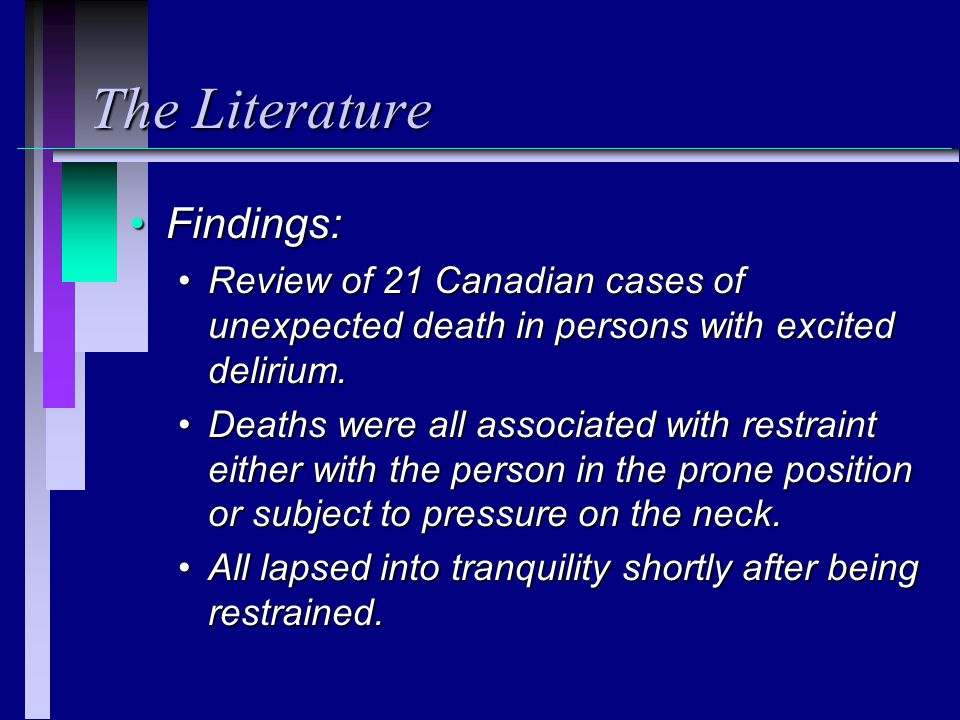 The Literature Findings:
