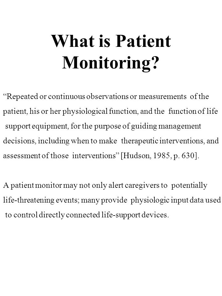 What is Patient Monitoring