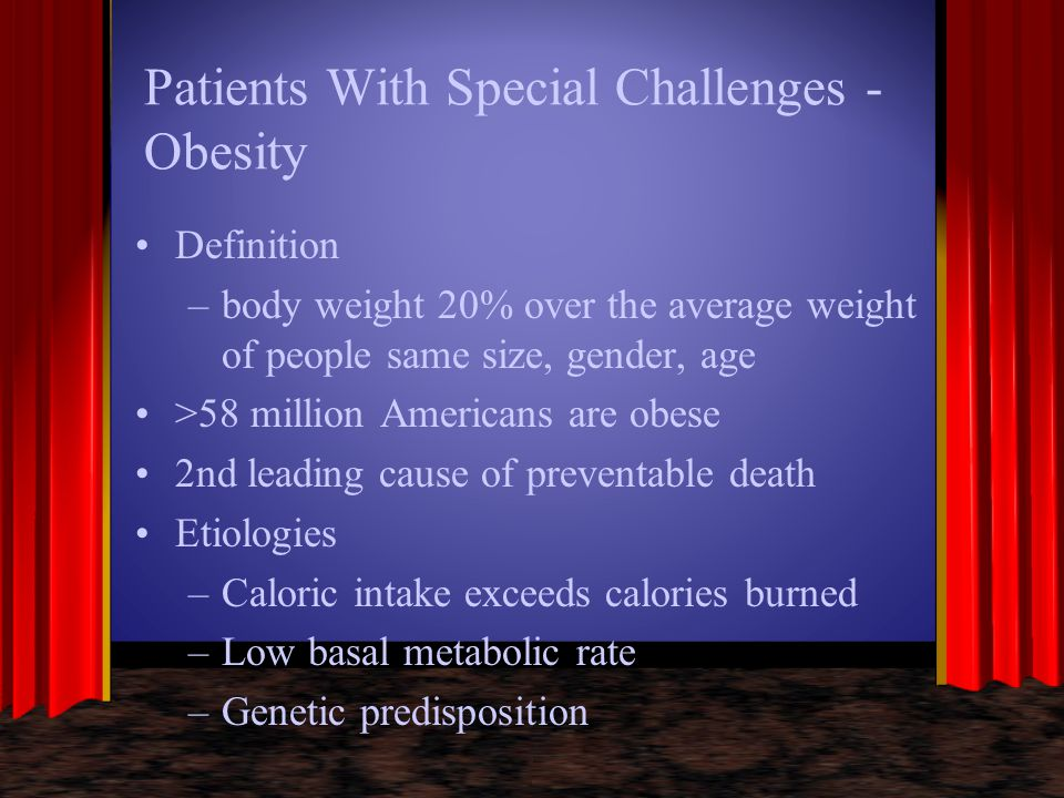 Patients With Special Challenges -Obesity