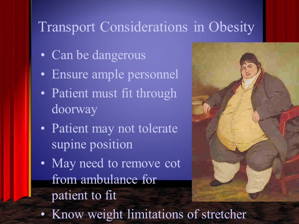 Transport Considerations in Obesity
