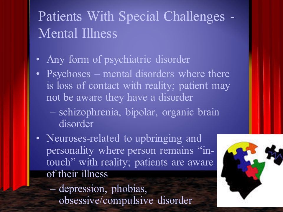 Patients With Special Challenges - Mental Illness