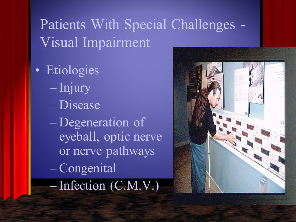 Patients With Special Challenges - Visual Impairment