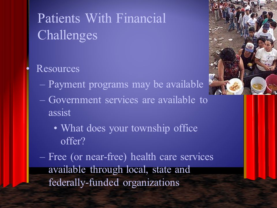 Patients With Financial Challenges