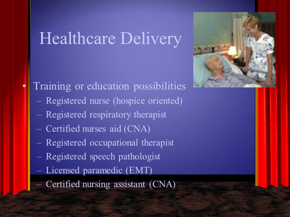 Healthcare Delivery Training or education possibilities