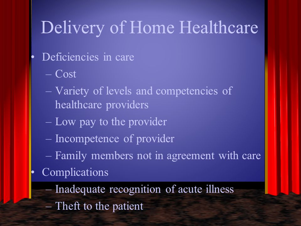 Delivery of Home Healthcare