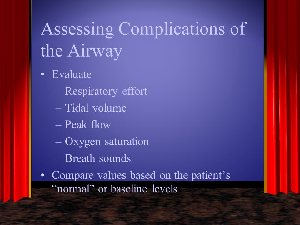 Assessing Complications of the Airway