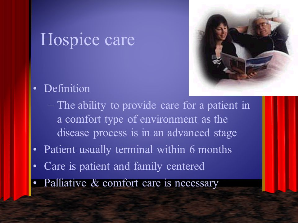 Hospice care Definition