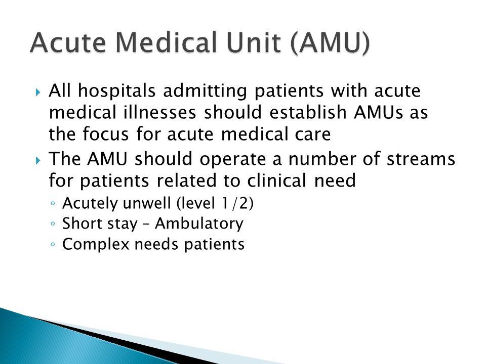 Acute Medical Unit (AMU)