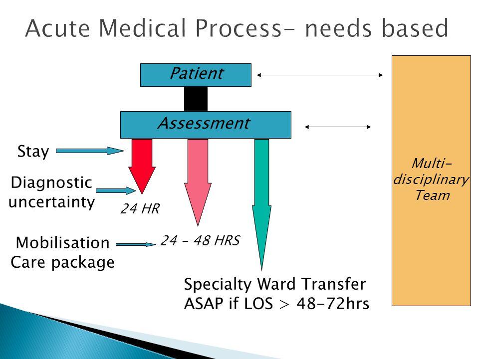 Acute Medical Process- needs based