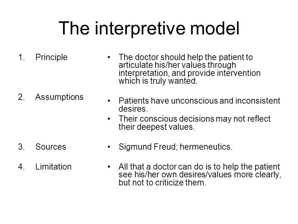 The interpretive model