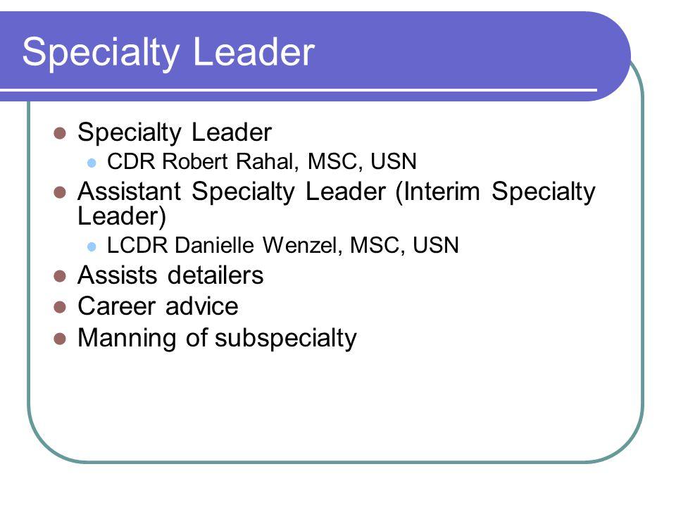 Specialty Leader Specialty Leader