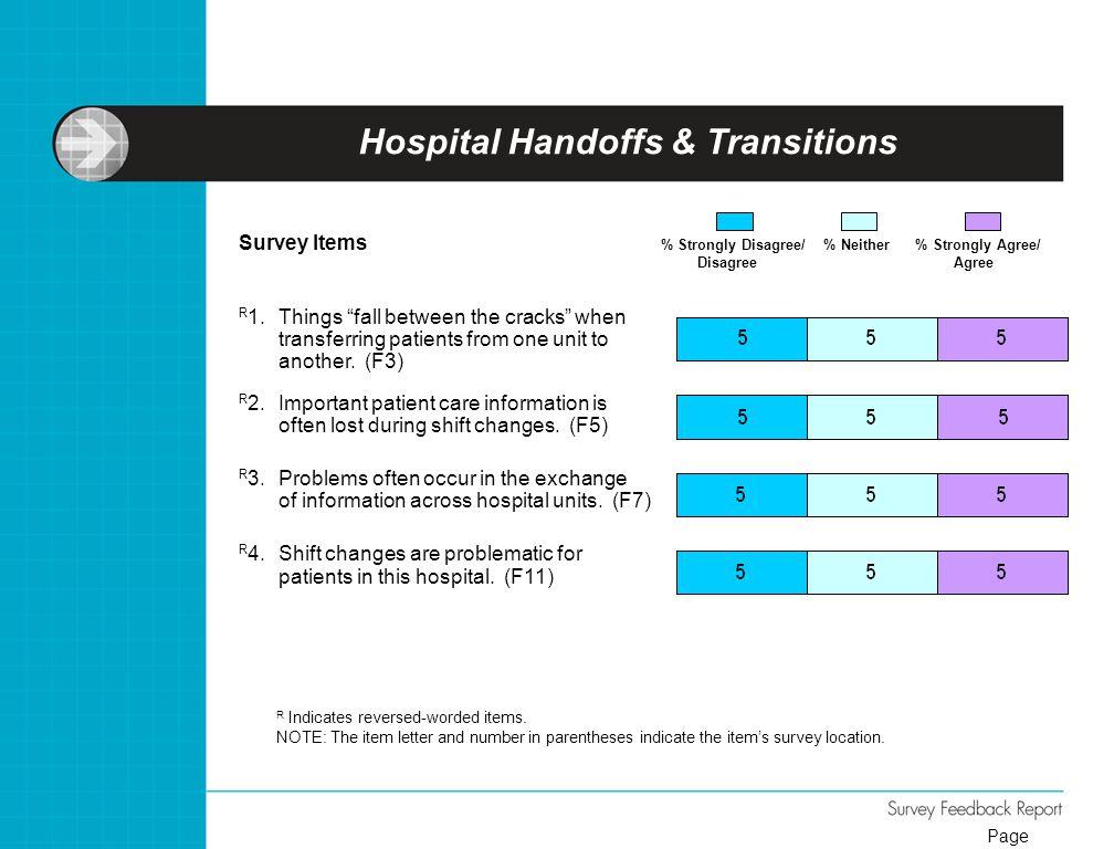 Hospital Handoffs & Transitions
