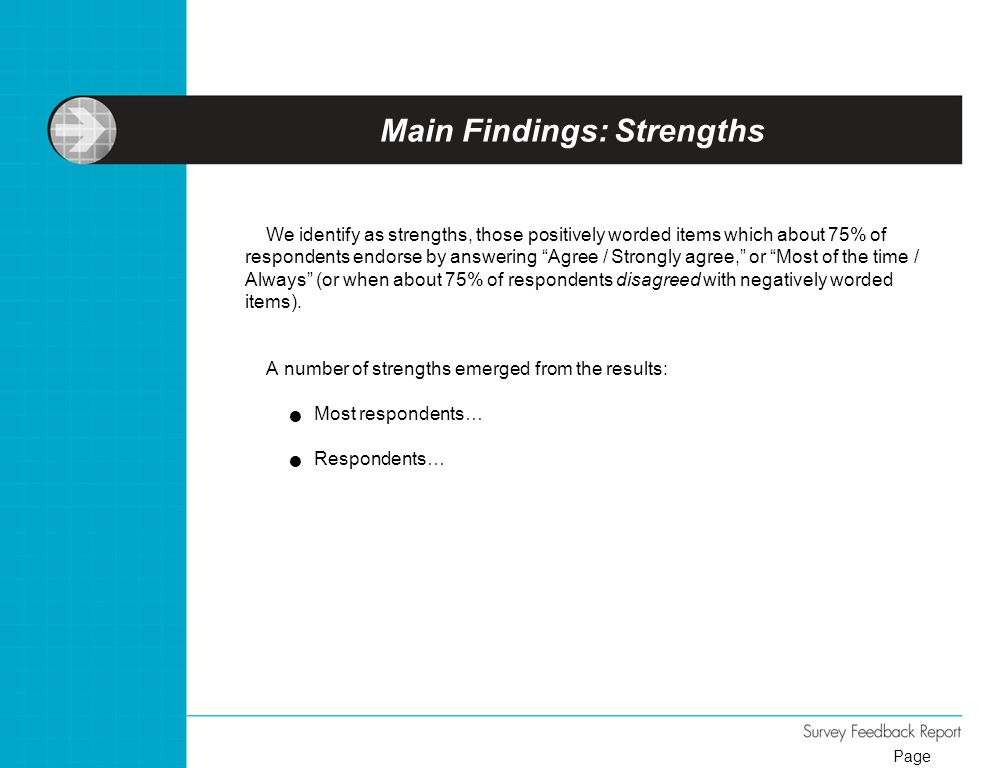 Main Findings: Strengths