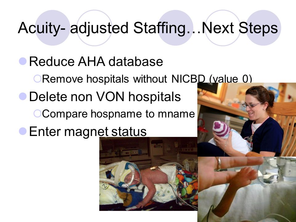 Acuity- adjusted Staffing…Next Steps
