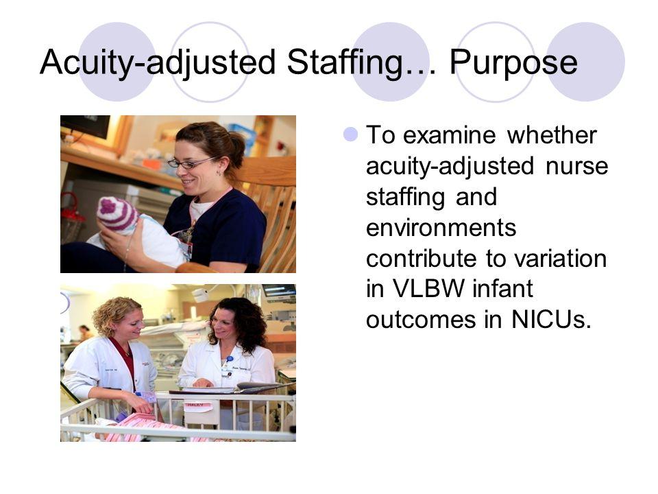Acuity-adjusted Staffing… Purpose